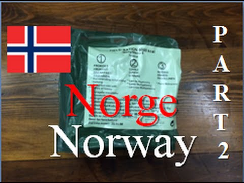 Norway Field Ration, 24 hour ~Lunch & Dinner~