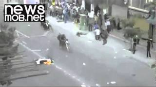 Police and protesters clash in Urmia, Iran
