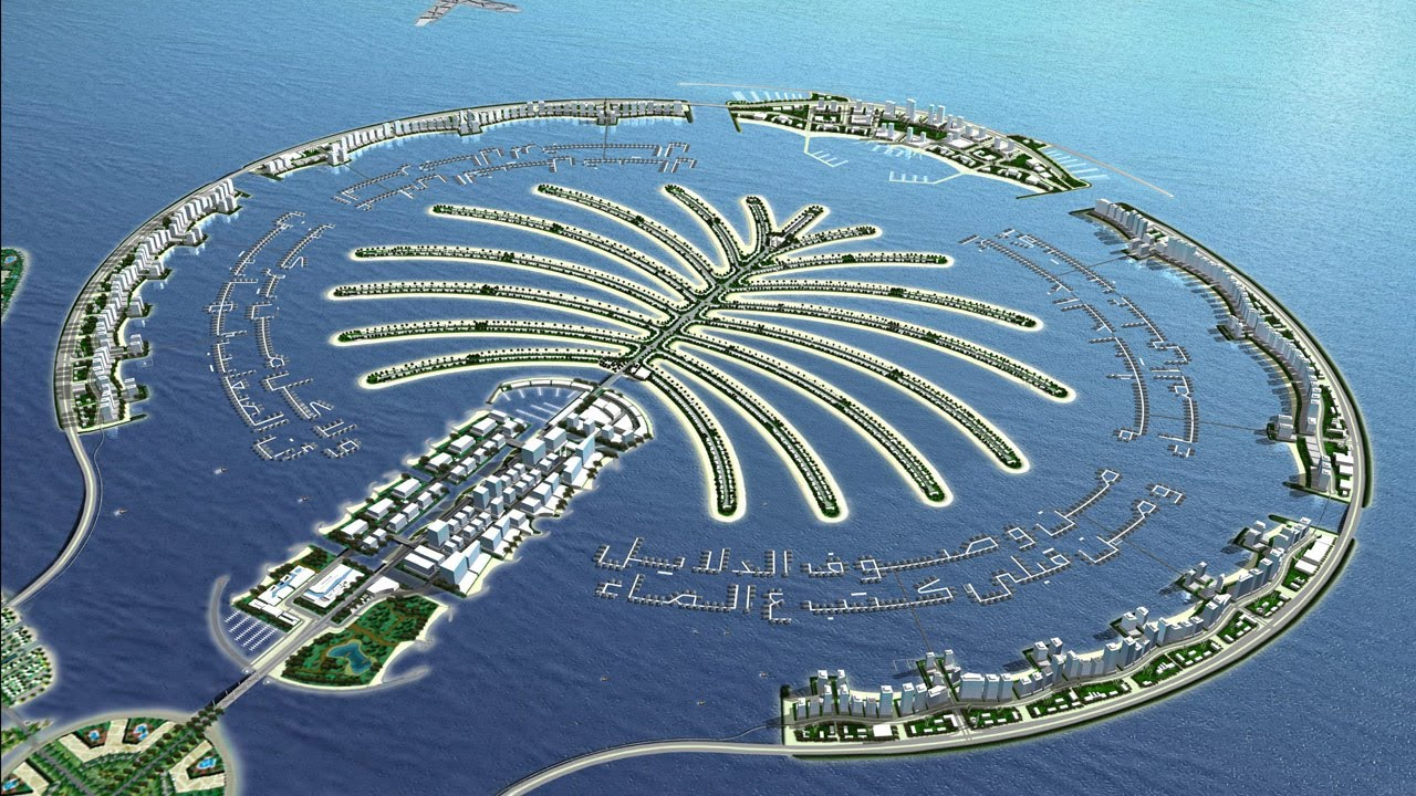 The Palm Island Dubai Uae Megastructure Development Youtube