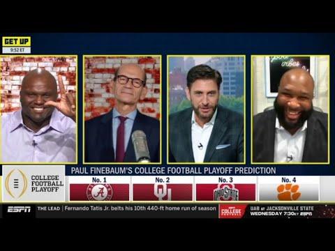 Paul Finebaum's College Football Playoff prediction: No.1 Alabama, No.2 Oklahoma, etc