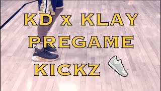 Pregame KD (Kevin Durant) and Klay Thompson routine and kicks #KD11 #KT4