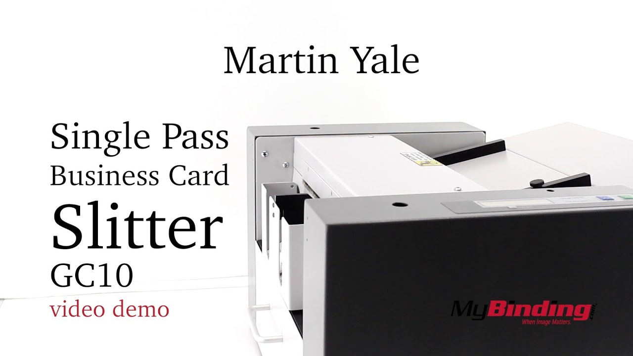 Martin Yale Single Pass Business Card Slitter - GC10 - YouTube