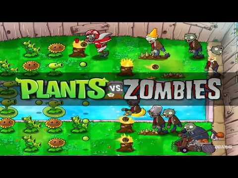[Old Game] Plants vs Zombies Game of the Year Gameplay 1080p