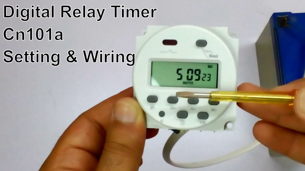 Digital Timer Switch Setting With Wiring For Incubator