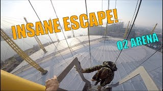 INSANE SECURITY ESCAPE!! O2 ARENA SUNRISE CLIMB