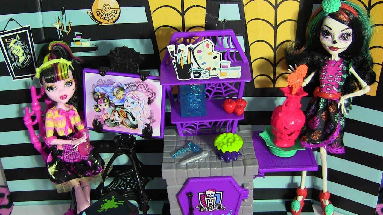 Monster high art class studio playset review video d youtube