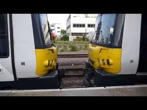 Train coupling at Cambridge Station