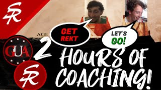 GiveUAnxiety Coaches Me for 2 Hours! | Strategy School | Age of Empires III