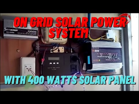 On Grid Solar Power System  Philippines  (with 400 watts solar panel)