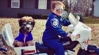 5-Year-Old Who Patrols Neighborhood With Kindness Gets Cute Canine Dog Partner