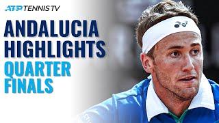 Alcaraz Battles Ruud; Carreno Busta, Ramos-Vinolas Feature | Andalucia 2021 Quarter-Final Highlights
