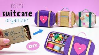 Diy Miniature 👜 Suitcase 👜 Organizer With Matchbox | Back to school | Art IDEA