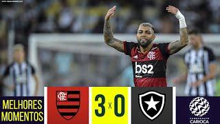 FLAMENGO 3x0 BOTAFOGO - Melhores Momentos - Taça Rio (07/03/2020)