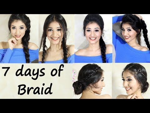 How to- Braid Hairstyle For School, College, Work | 7 days of Braid