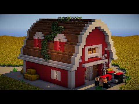 tuto ferme grange partie 1 minecraft design keralis doovi. Black Bedroom Furniture Sets. Home Design Ideas
