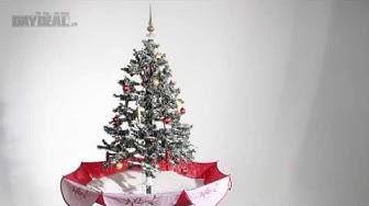 Weihnachtsbaum mit Schneefall-Effekt