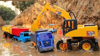 Toy Cars For Kids | Excavator Dump Truck Road Roller Construction Vehicles Toys for Children