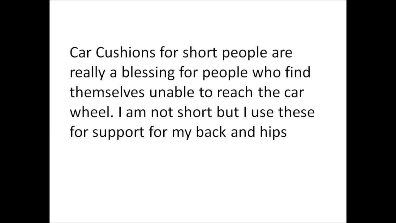 Car Cushions for Short People - YouTube