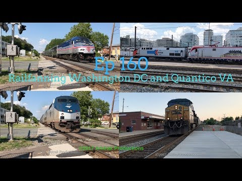 [4K] Ep 160 Railfanning Washington DC and Quantico VA with very rare catches