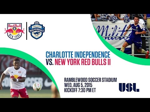 Livestream: New York Red Bulls II at Charlotte Independence - August 5