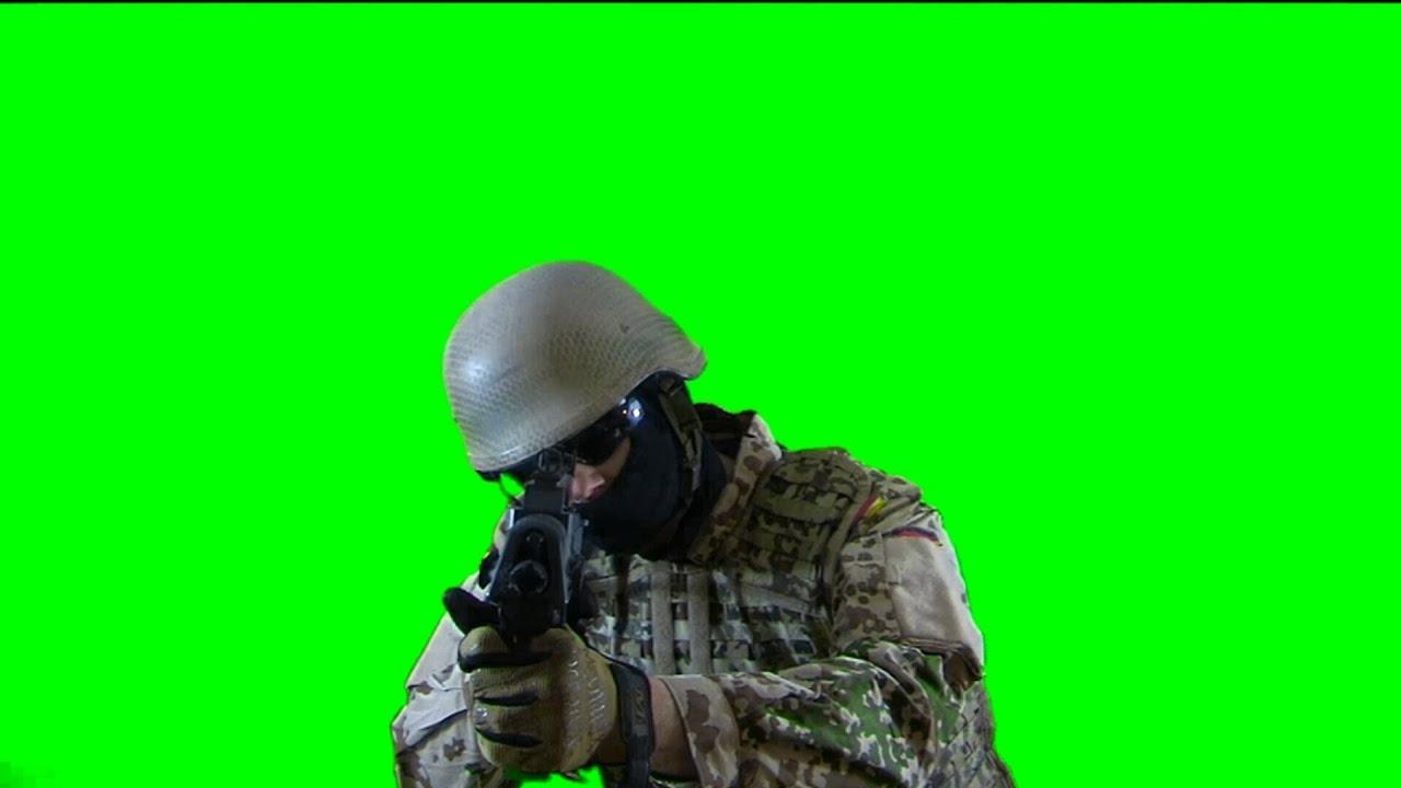 soldier is targeting real battlefield green screen footage 1