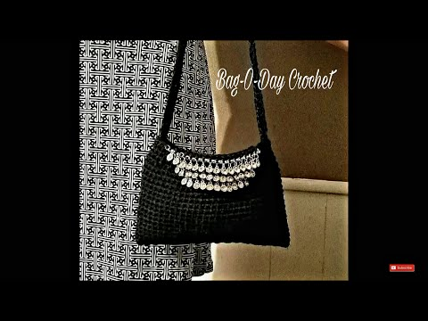 "Learn How To #Crochet ""The Little Black Bag"" Purse TUTORIAL #387 SOUFEEL JEWELRY REVIEW"