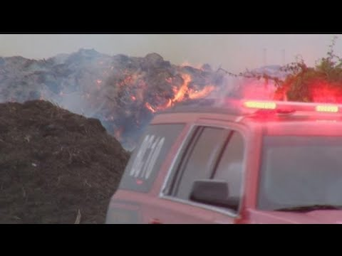 Mulch fire ignites in Collier County amid windy conditions