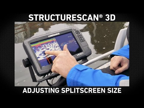 StructureScan 3D Adjust Split Screen Size