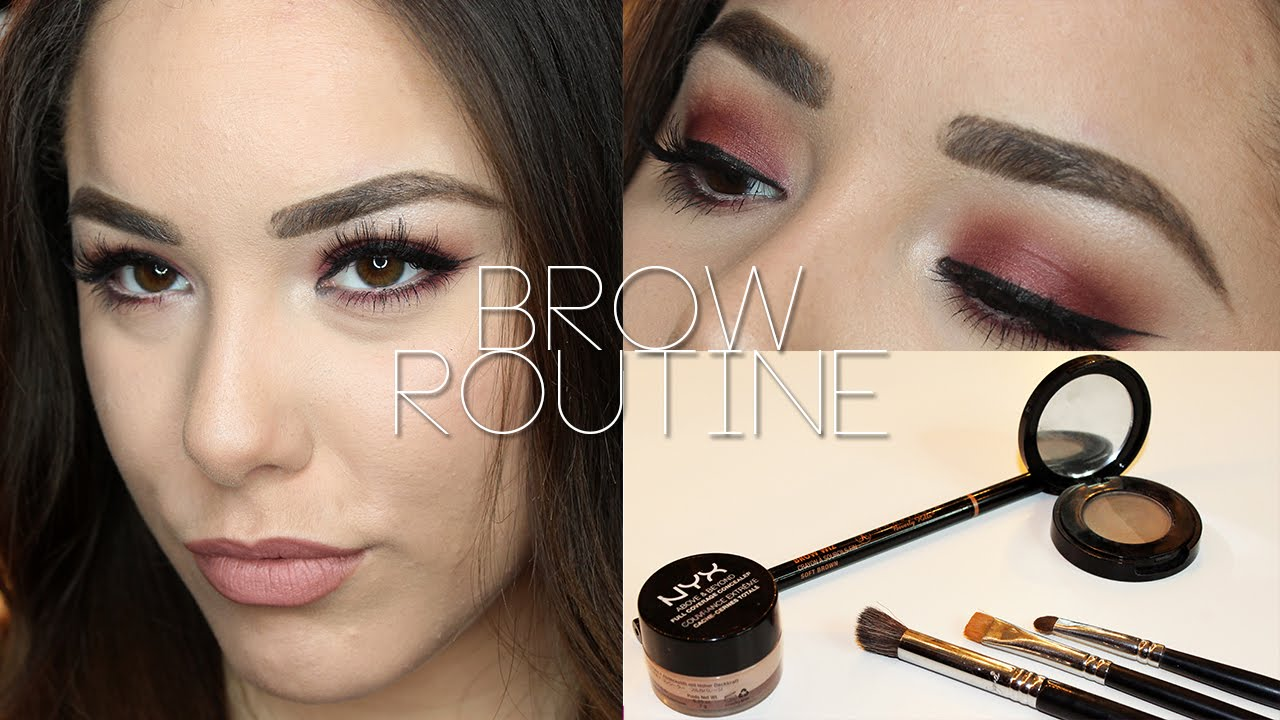 Eyebrow Routine Ft Anastasia Beverly Hills Brow Wiz Youtube