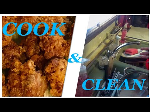 COOK AND CLEAN WITH ME | CHICKEN GIZZARDS | SPEED CLEAN