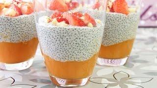 Chia-Papaya-Kokoscreme Dessert - Low Carb Nachspeise