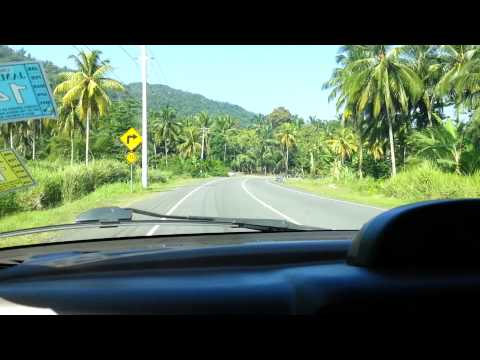 Driving through Black Hill,  Portland, Jamaica.