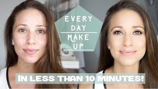 10 minute Back-To-School-Makeup (Affordable Makeup Tutorial) | #BeautyWithNia