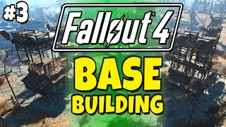 Fallout 4 - Building a Base! #3 Slaughter House & Catwalk