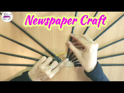 easy-wall-decoration-idea-|-newspaper-craft-|-paper-craft-|-diy-wall-decor-#bestoutofwaste-#stayhome