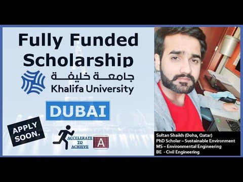 3.5 - 4.5 Lac PKR Scholarship| Khalifa University UAE Procedure |Apply soon|MS & PhD.