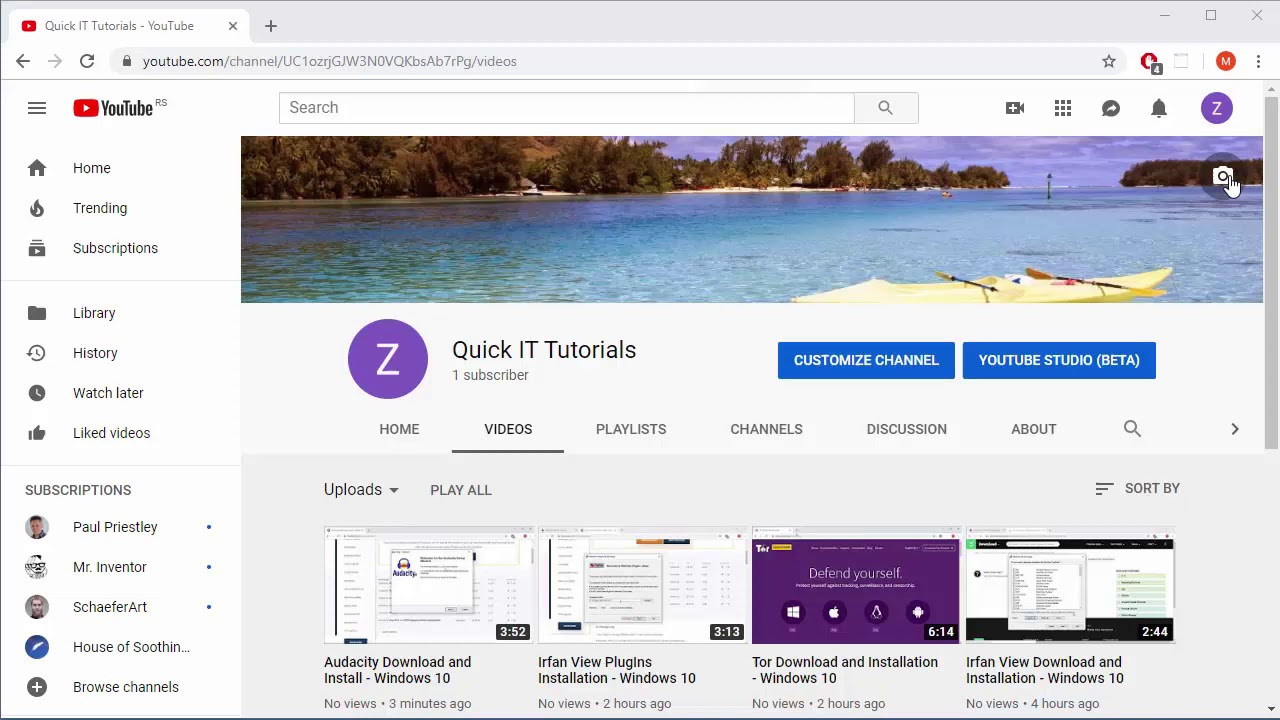 How to Change YouTube Channel Image