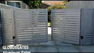 Aluminum Driveway Gates Los Angeles globusgates.com, LA500 liftmaster dual motors