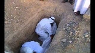 شاهد لحظة دفن جثمان الفنان عبدالحسين عبدالرضا