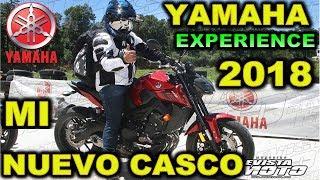 NUEVO CASCO PROBANDO LA NUEVA FZ 09 EN EL YAMAHA EXPERIENCE 2018