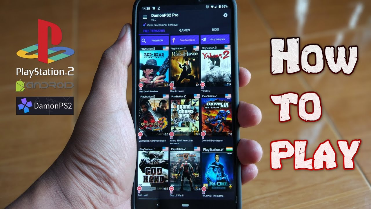 step by step | How to Play PS2 Game on Android Smartphone | Damon PS2 Emulator Free and Pro