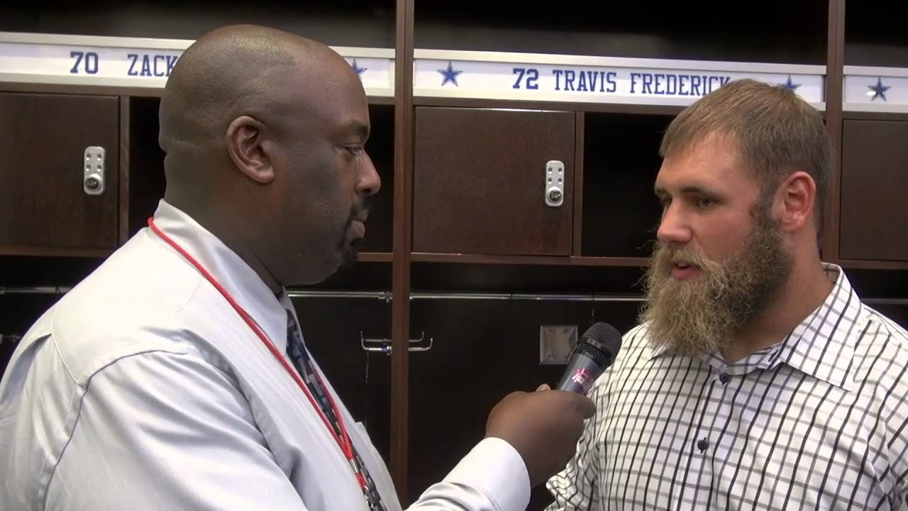 BTP Sports Richard Walker interviews Cowboys Center Travis