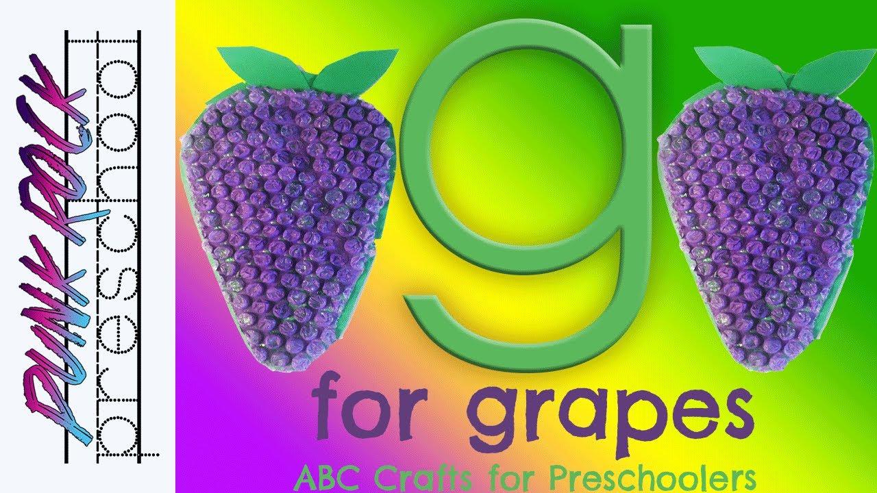 Letter G for Grapes | Fun Preschool Crafts for Kids | Best Preschool ...