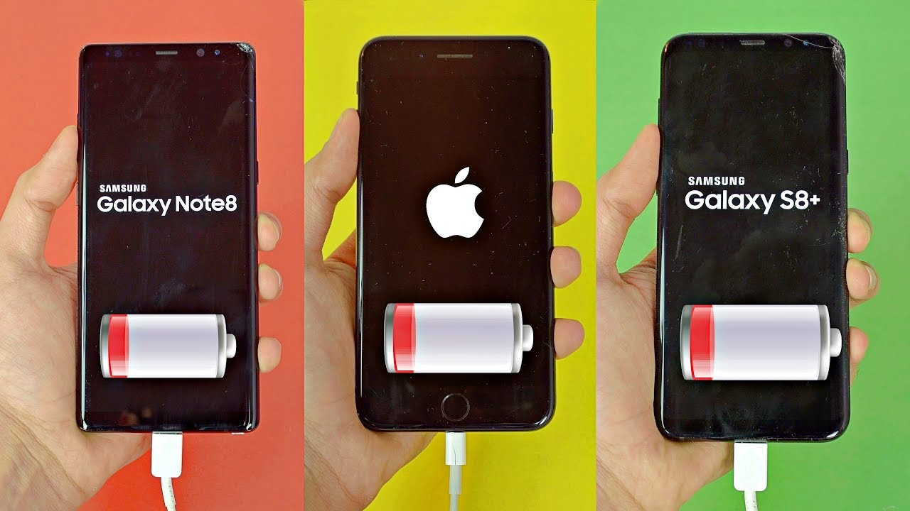 S8 plus vs iphone x battery