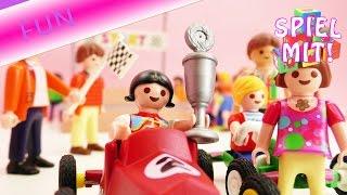 Playmobil Film: Das große Rennen! Chrissi und Lena nehmen am Seifenkistenrennen teil   Story Deutsch