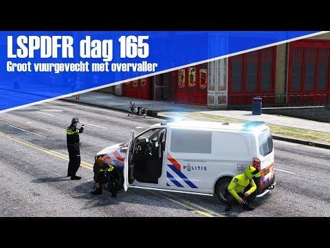 GTA 5 lspdfr dag 165 - Groot vuurgevecht met overvaller! [Motor dienst]