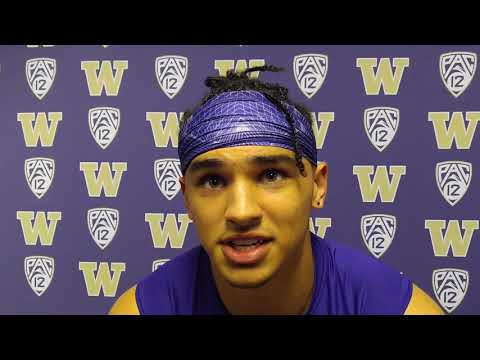Aaron Fuller after Washington's 48-16 victory over Fresno State