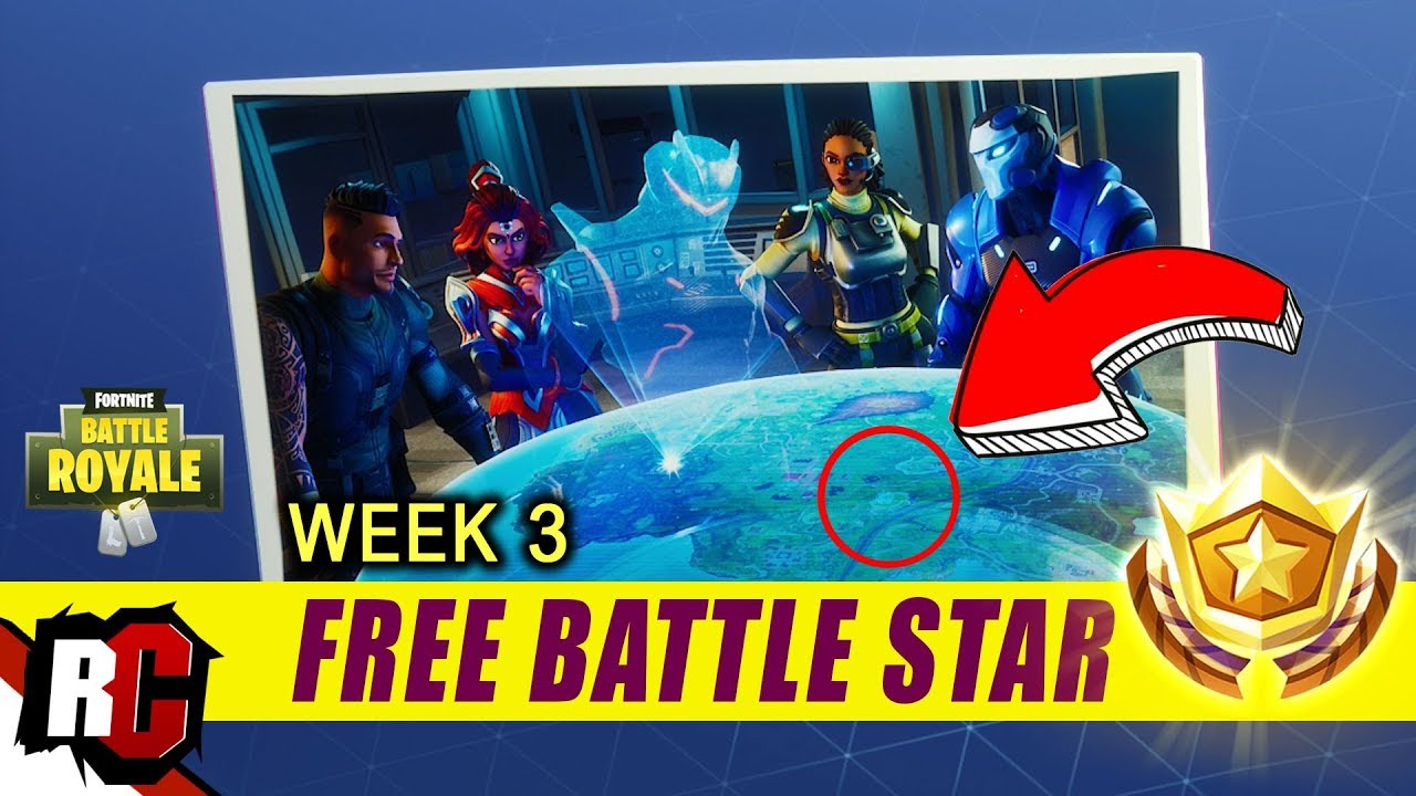 Fortnite Free Battle Star Location Week 3 Blockbuster Challenge