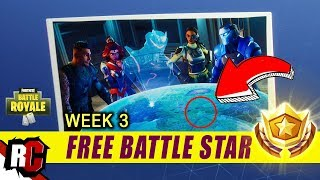 Fortnite | Free Battle Star Location Week #3 (Blockbuster Challenge / Secret Hologram Loading Screen