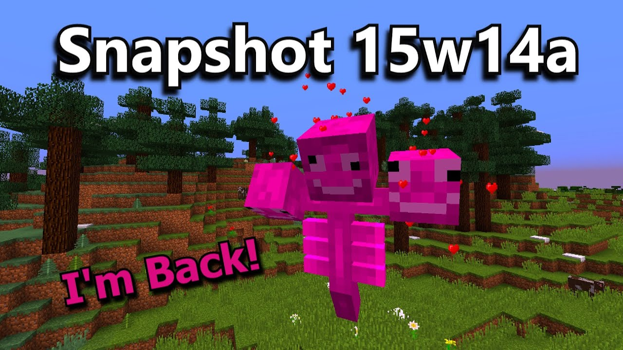 Minecraft Snapshot 15w14a The April Fools Update YouTube